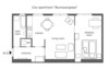 plan of your spacious 2-room apartment  in Vienna